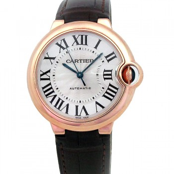 36.6mm Cartier 18k Rose Gold Ballon Bleu W6900456.