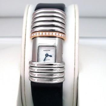 15mm Cartier Titanium and 18k Rose Gold Declaration Watch