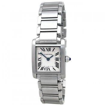 Small Cartier Steel Tank Francaise  W51008Q3