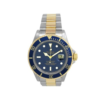 40mm Gents Rolex 18k Gold & Stainless Steel Oyster Perpetual Submariner Watch 16613