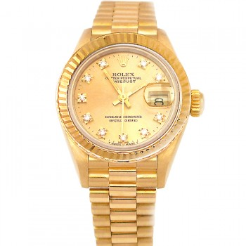 26mm Rolex 18k Yellow Gold President Datejust 69178.