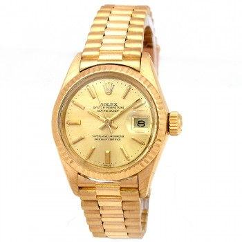 26mm Rolex 18k Yellow Gold President Datejust 6917