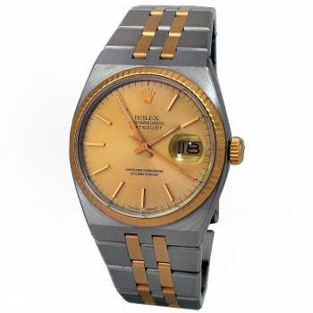 36mm Rolex Two-Tone Oyster Quartz Datejust Watch 17013.