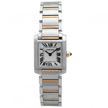 Small Cartier Two-Tone Tank Francaise W51007Q4.