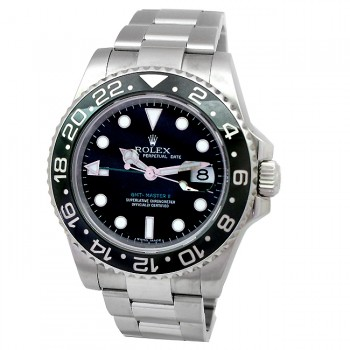 40mm Rolex Stainless GMT-Master II  Ceramic Watch 116710