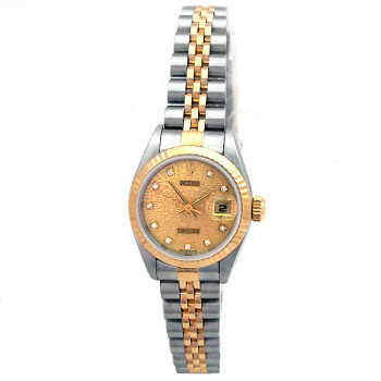 26mm Rolex Two-Tone Datejust Champagne Jubilee Diamond 69173.
