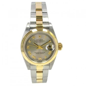 26mm Rolex Two-Tone Datejust Rhod Dial Oyster Band 79163.