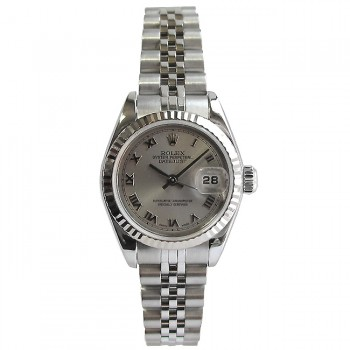 26mm Rolex Stainless Datejust  Rhodium Roman  79174.