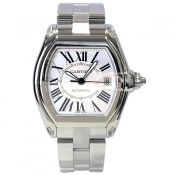 Large Cartier Stainless Roadster with Extra Band W62025V3.