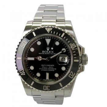 40mm  Rolex Stainless Submariner Ceramic Watch 116610.