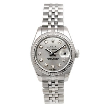 26mm Rolex Stainless Datejust with Diamond Dial 179174.