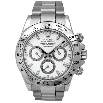 40mm Rolex Stainless Daytona White Dial 116520.