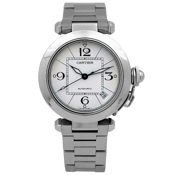 35mm Cartier Stainless Steel Pasha C  W31074M7.