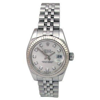 26mm Rolex Stainless Steel Oyster Perpetual Datejust Watch 179174