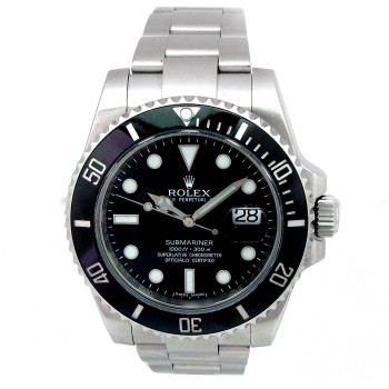 40mm Rolex Stainless Steel Submariner Ceramic Watch 116610LN