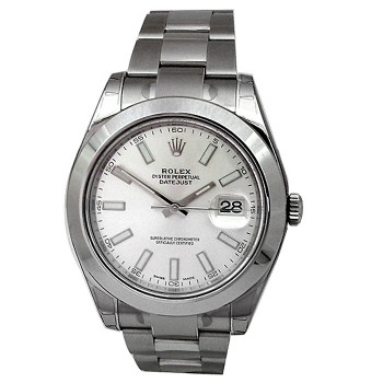 41mm Rolex Stainless Steel Oyster Perpetual Datejust II Watch 116300