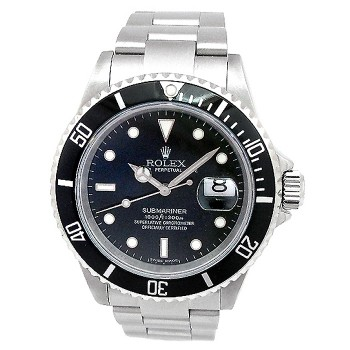40mm Rolex Stainless Steel Submariner Watch 16610