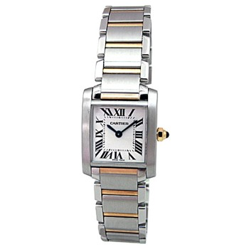 Small Cartier Two-Tone Tank Francaise Watch W51007Q4.