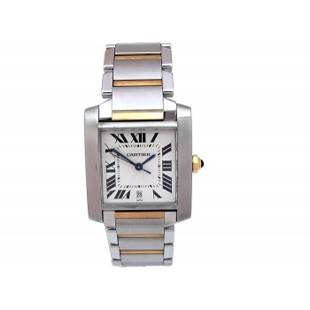 Large Cartier Two-Tone Tank Francaise Watch W51005Q4.