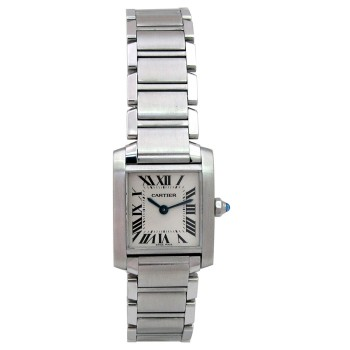 Small Cartier Stainless Steel Tank Francaise Watch W51008Q3.