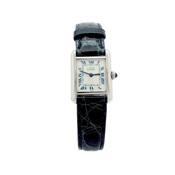 Lady Cartier Stainless Steel Tank Vermeil Watch