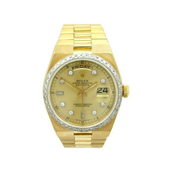 36mm Rolex 18k Yellow Gold Oyster Perpetual Daydate Watch 19018
