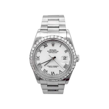 36mm Rolex Stainless Steel Oyster Perpetual Datejust Watch 16200