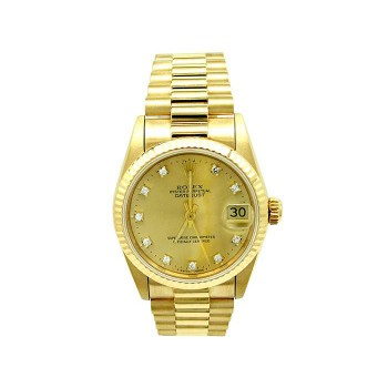 31mm Rolex 18k Yellow Gold Oyster Perpetual Datejust Watch 68278