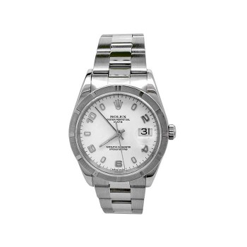 34mm Rolex Stainless Steel Oyster Perpetual Date Watch 15210