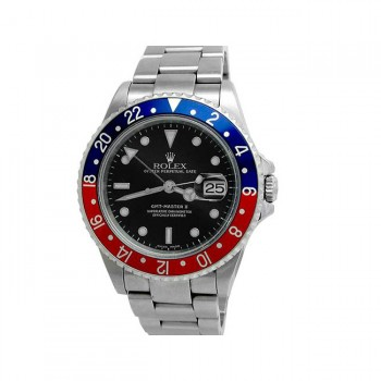 40mm Rolex Stainless Steel Oyster Perpetual GMT-Master II Watch 16710