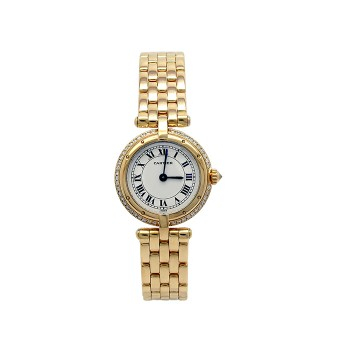 23mm Cartier 18k Yellow Gold Vendome Watch