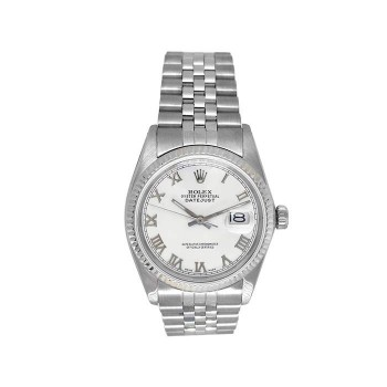36mm Rolex Stainless Steel Oyster Perpetual Datejust Watch 16014