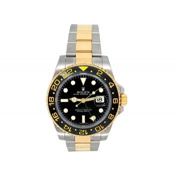 Rolex 18k Yellow Gold and Stainless Steel GMT-Master II Watch 34575