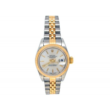 Rolex 18k Yellow Gold and Stainless Steel Datejust Watch 34628