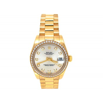 Rolex 18k Yellow Gold Datejust Watch 34631