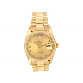 Rolex 18k Yellow Gold Daydate Watch 34653