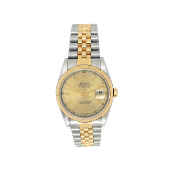 Rolex 18k Yellow Gold and Stainless Steel Datejust Watch 34662