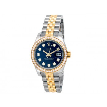 26mm Rolex 18k Yellow Gold and Stainless Steel Oyster Perpetual Datejust Watch