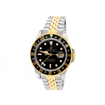 40mm Rolex 18k Yellow Gold and Stainless Steel Oyster Perpetual GMT-Master II Watch