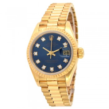 26mm 18k Yellow Gold Rolex Oyster Perpetual President Datejust Watch