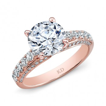 ROSE GOLD CLASSIC DIAMOND ENGAGEMENT RING