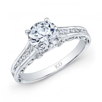 WHITE GOLD PRONG DIAMOND ENGAGEMENT RING