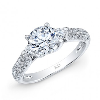 WHITE GOLD INSPIRED CLASSIC DIAMOND BRIDAL RING