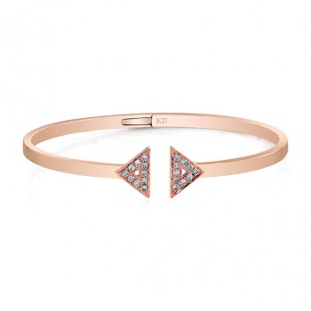 ROSE GOLD CONTEMPORARY DIAMOND BANGLE