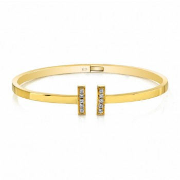 YELLOW GOLD CONTEMPORARY DIAMOND BANGLE