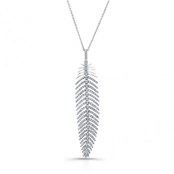 18K ROSE GOLD FEATHER STYLE NECKLACE