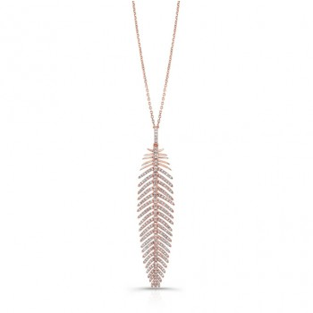 ROSE GOLD INSPIRED FASHION DIAMOND PENDANT