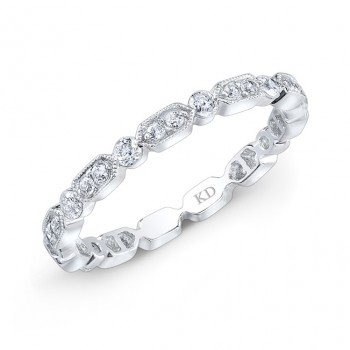 WHITE GOLD TRENDY FASHION DIAMOND BAND