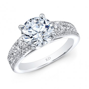 WHITE GOLD INSPIRED CLASSIC DIAMOND ENGAGEMENT RING