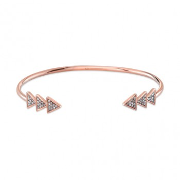 ROSE GOLD INSPIRED TRENDY DIAMOND BANGLE